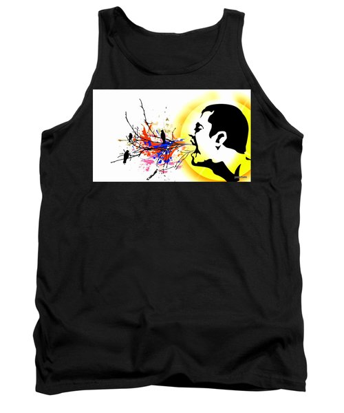 Happiness Must Be Born Within Us 1 Tank Top by Paulo Zerbato