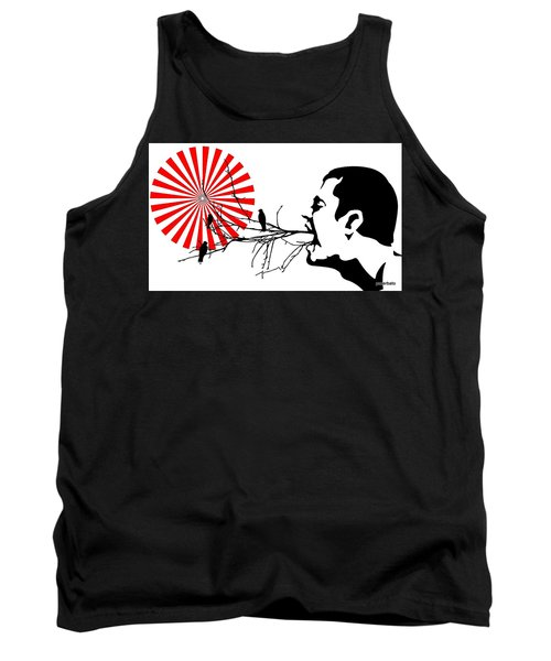 Happiness Must Be Born Within Us 3 Tank Top by Paulo Zerbato