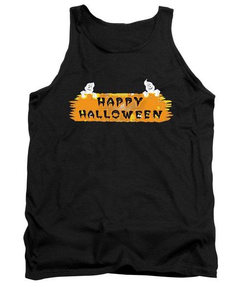 Happy Halloween - T-shirt Tank Top by Robert J Sadler