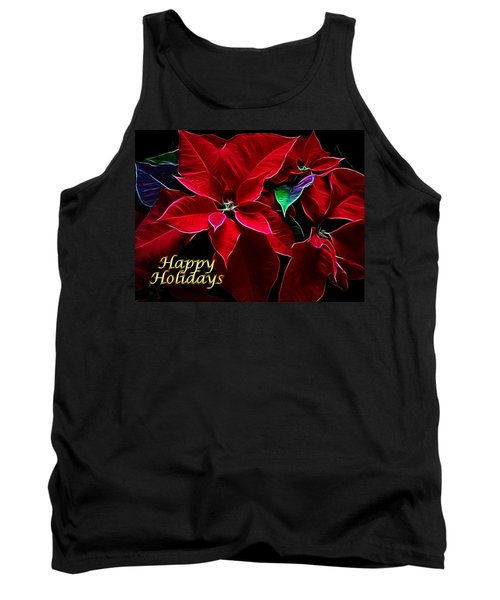 Happy Holidays Tank Top by Sandy Keeton