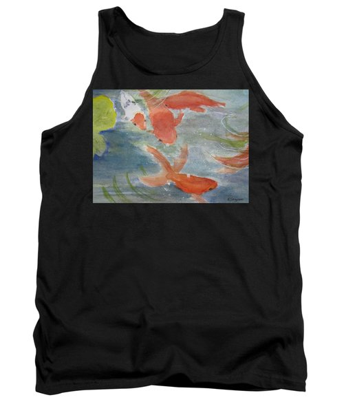 Happy Koi Tank Top by Elvira Ingram