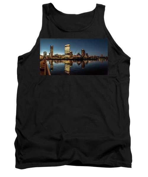 Tank Top featuring the photograph Harbor House View by Randy Scherkenbach