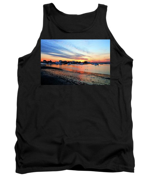 Harbor Sunset At Low Tide Tank Top