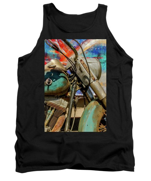 Tank Top featuring the photograph Harley Davidson - American Icon II by Bill Gallagher