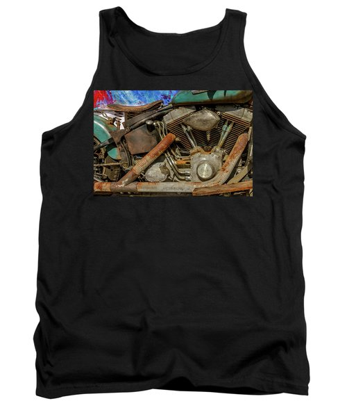 Tank Top featuring the photograph Harley Davidson - An American Icon by Bill Gallagher