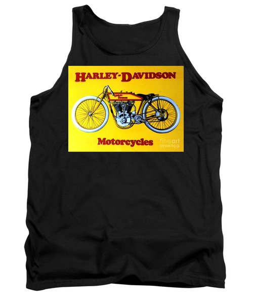 Tank Top featuring the painting Harley - Davidson  Poster by Pg Reproductions