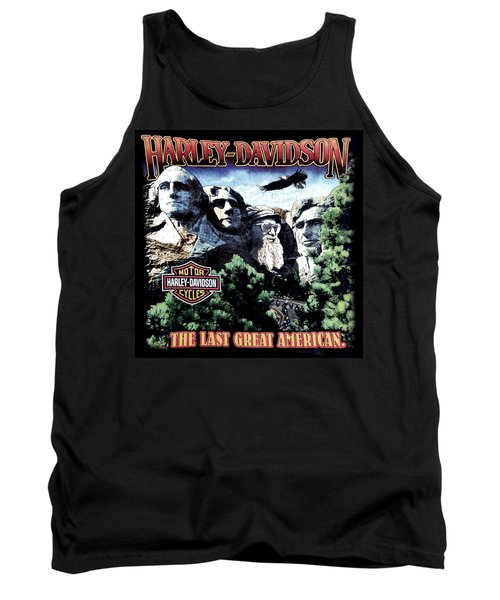 Tank Top featuring the digital art Harley Davidson The Last Great American by Gina Dsgn