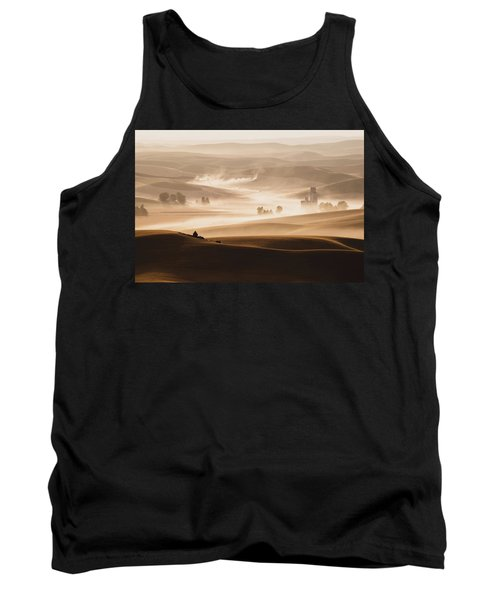 Tank Top featuring the photograph Harvest Dust by Chris McKenna