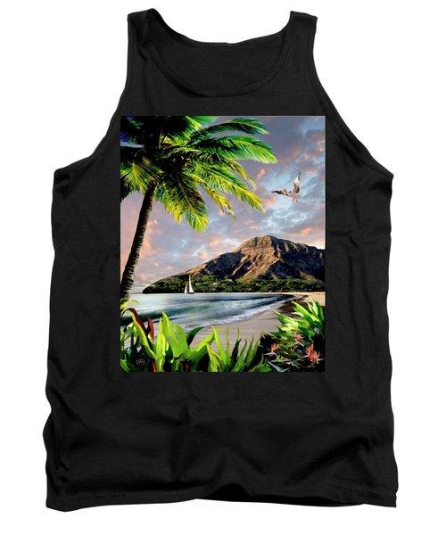 Hawaii Sunset Tank Top by Ron Chambers