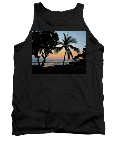 Hawaiian Big Island Sunset  Kailua Kona  Big Island  Hawaii Tank Top