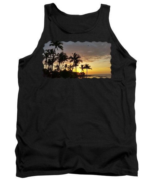 Hawaiian Sunset Design Tank Top by Pamela Walton