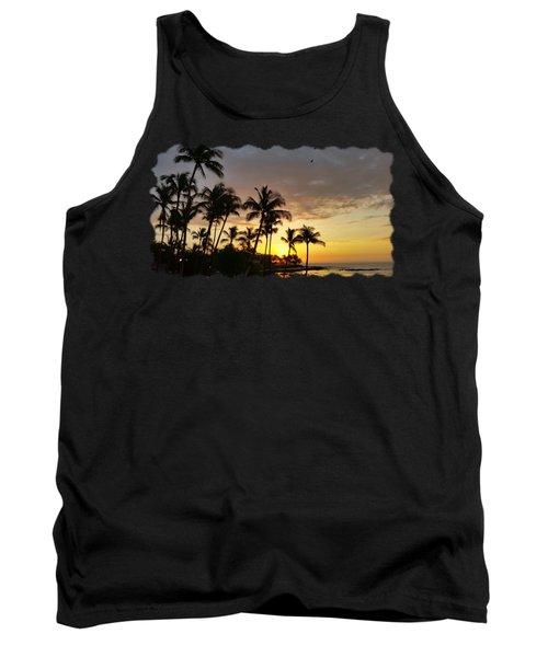 Hawaiian Sunset Design Tank Top
