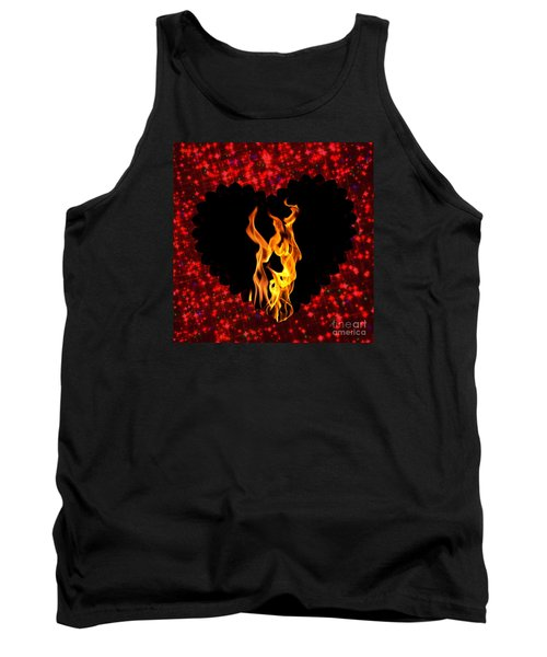 Heart On Fire  Tank Top