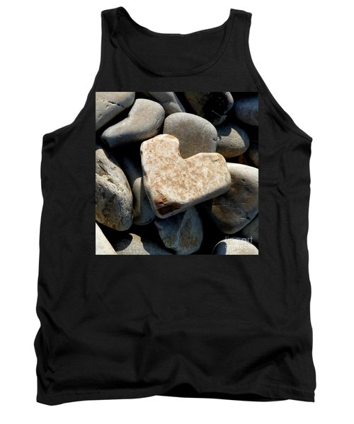 Tank Top featuring the photograph Heart Stone by Lainie Wrightson