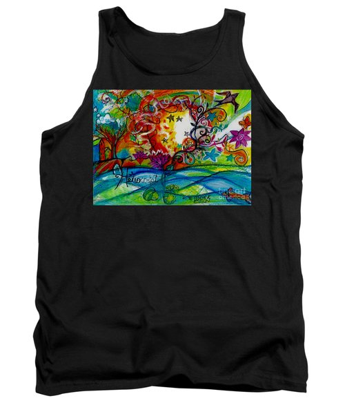 Tank Top featuring the painting Helios And Ophelia  by Genevieve Esson