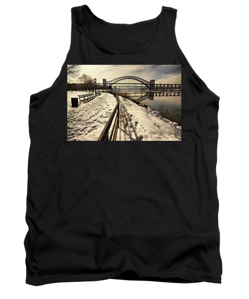 Hellgate Bridge In Winter Tank Top