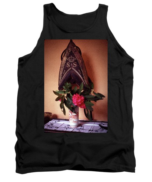 Helmet And Flower Tank Top