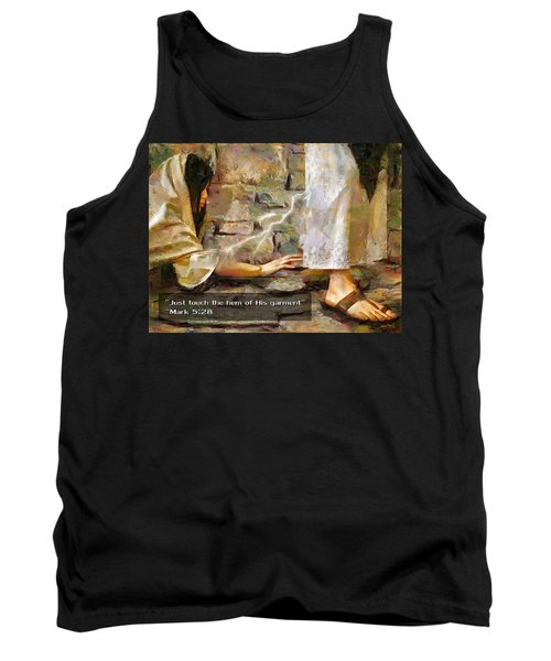 Hem Of His Garment And Text Tank Top