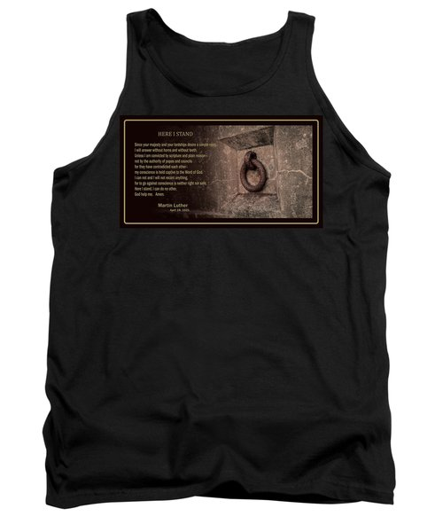 Here I Stand Tank Top