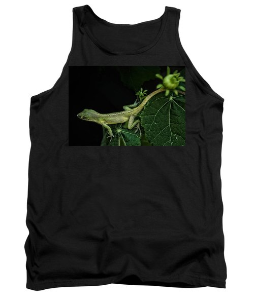 Tank Top featuring the mixed media Here Lizard Lizard by Kim Henderson