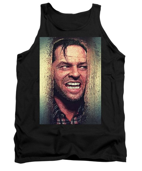 Here's Johnny - The Shining  Tank Top by Taylan Apukovska
