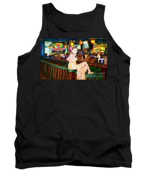 Tank Top featuring the painting Here's To You by Judy Kay