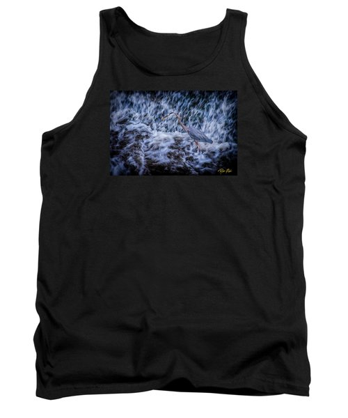 Tank Top featuring the photograph Heron Falls by Rikk Flohr