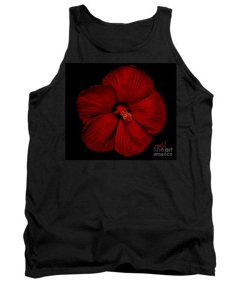 Hibiscus By Moonlight Tank Top by Marsha Heiken