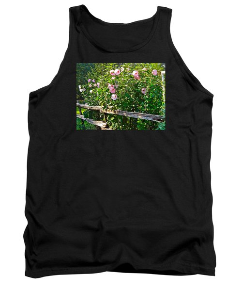 Hibiscus Hedge Tank Top by Randy Rosenberger