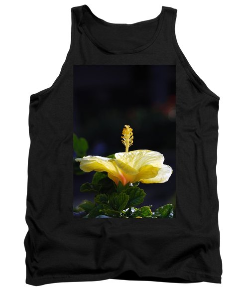 Tank Top featuring the photograph Hibiscus Morning by Debbie Karnes