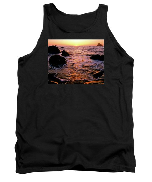 Hidden Cove Sunset Redwood National Park Tank Top