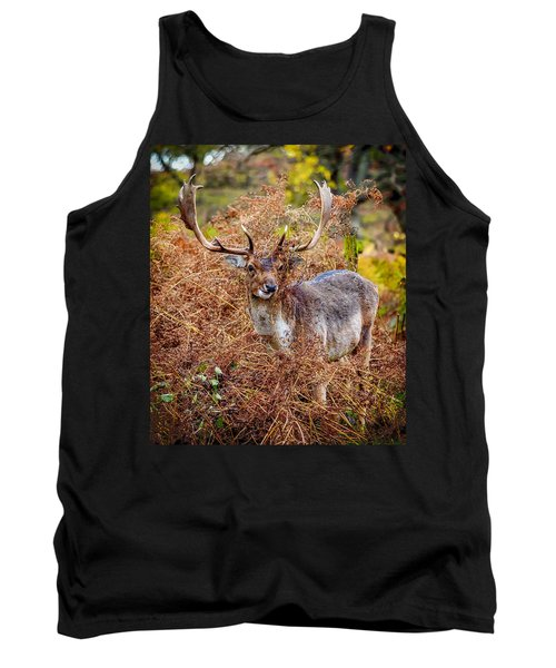Tank Top featuring the photograph Hiding In The Bracken by Nick Bywater