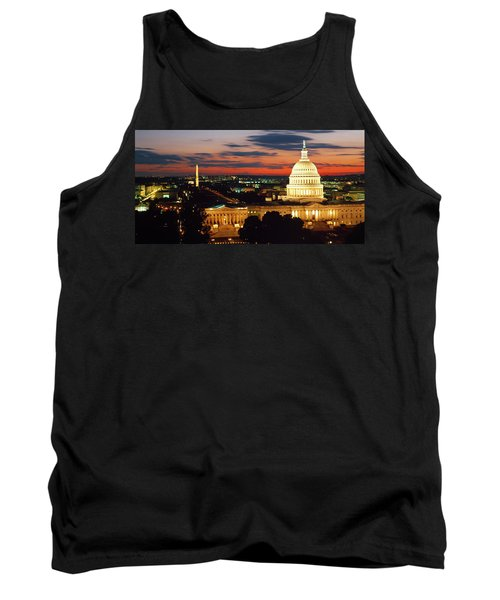 High Angle View Of A City Lit Tank Top