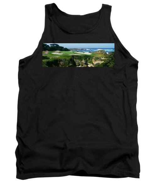 High Angle View Of A Golf Course Tank Top