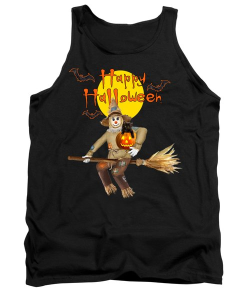 High Flying Scarecrow Tank Top by Glenn Holbrook