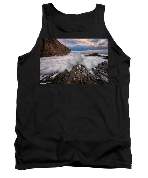 Tank Top featuring the photograph High Tide At Bald Head Cliff by Rick Berk