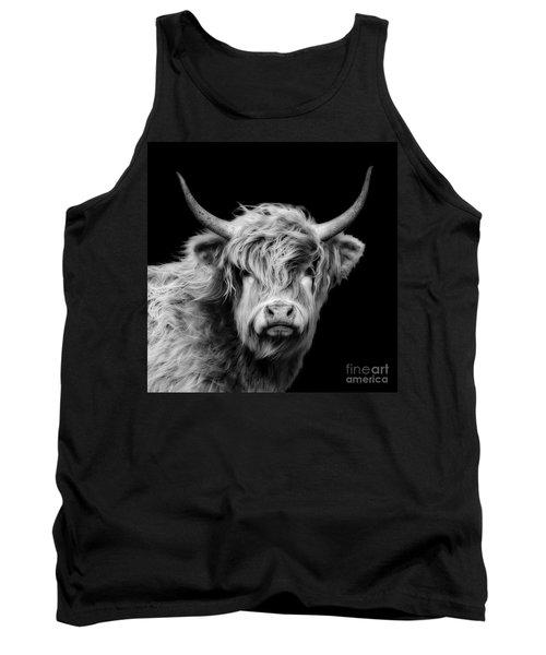 Highland Cow Portrait Tank Top