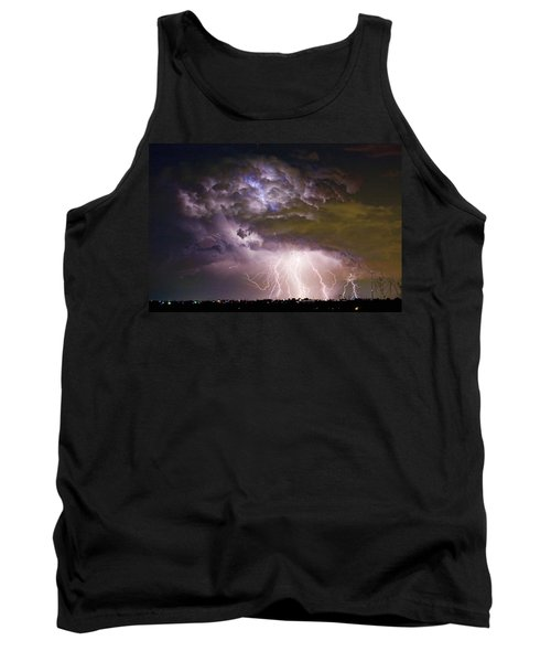 Highway 52 Storm Cell - Two And Half Minutes Lightning Strikes Tank Top