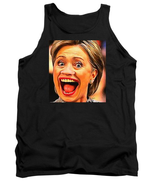 Hillary Clinton Tank Top by Anthony Caruso