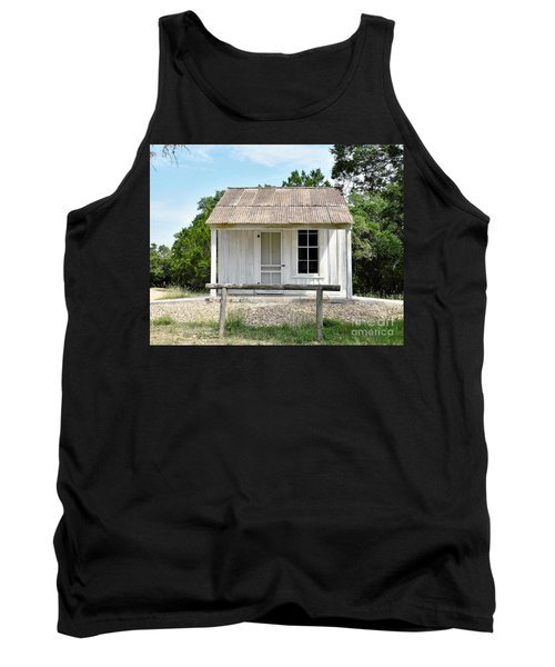 Tank Top featuring the photograph Historic Clint's Cabin by Ray Shrewsberry