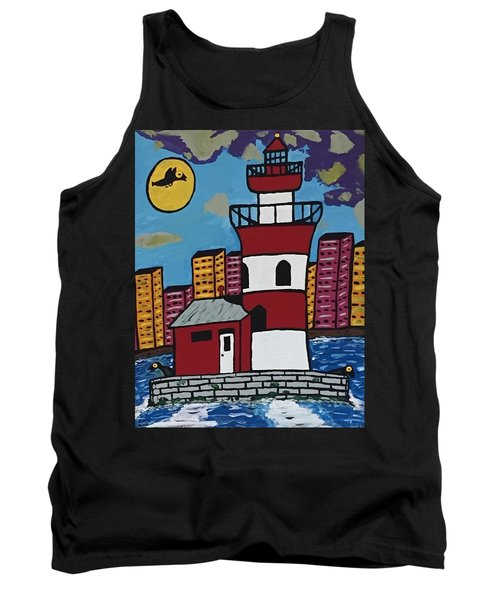 Historical Michigan Lighthouse Tank Top