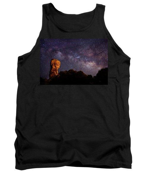 Hitchcock Pinnacle Nightscape -- Milky Way Tank Top