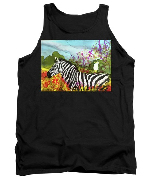 Tank Top featuring the painting Hitching A Ride by Suzanne Canner
