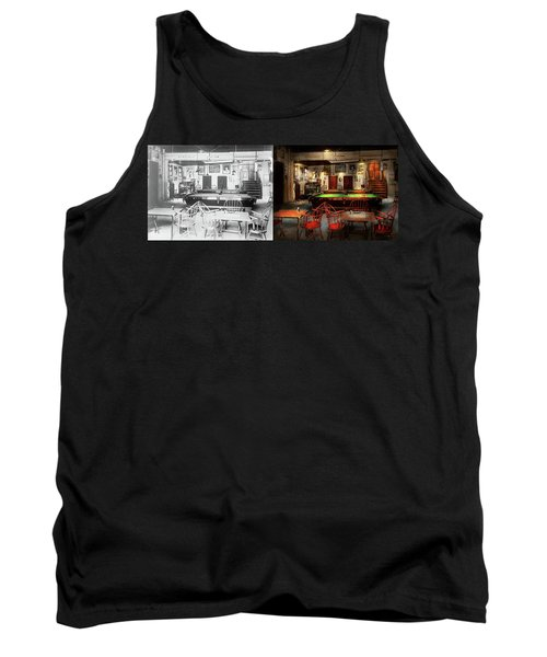 Tank Top featuring the photograph Hobby - Pool - The Billiards Club 1915 - Side By Side by Mike Savad