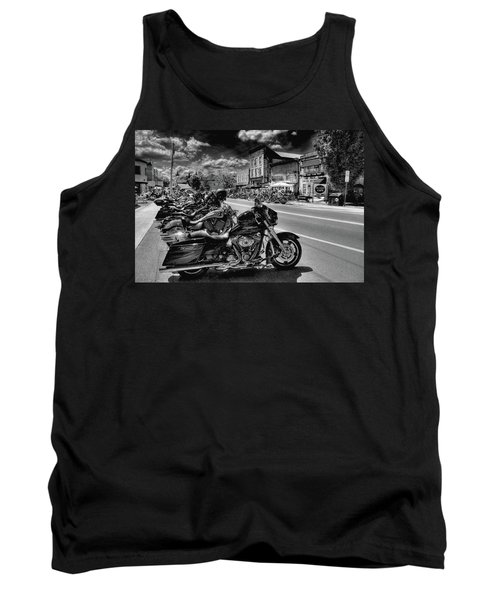 Hogs On Main Street Tank Top by David Patterson