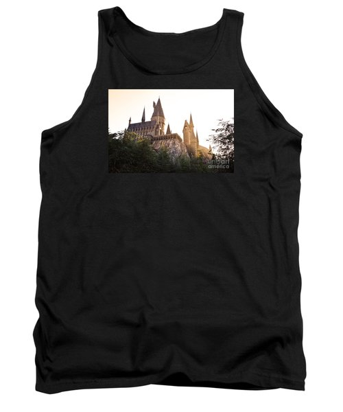 Tank Top featuring the photograph Hogwarts Dusk by Rebecca Parker