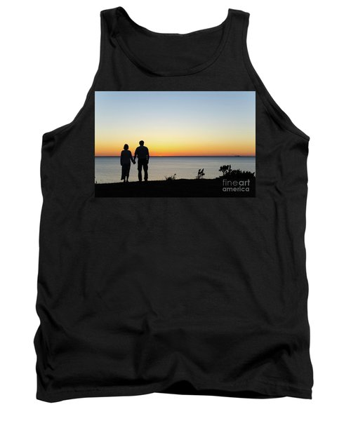 Tank Top featuring the photograph Holding Hands By  Sunset  by Kennerth and Birgitta Kullman