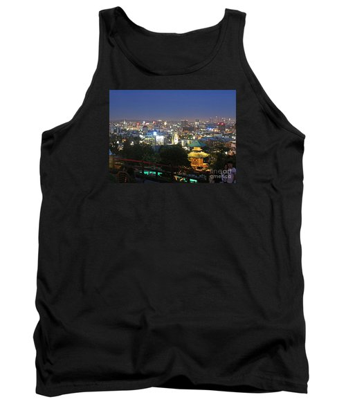Tank Top featuring the photograph Hollywood Hills After Dark by Cheryl Del Toro