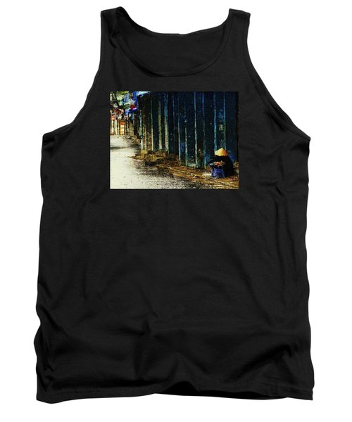 Tank Top featuring the digital art Homeless In Hanoi by Cameron Wood