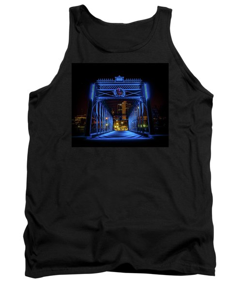 Homeless Winter Night On Wells Street Bridge - Fort Wayne Indiana Tank Top